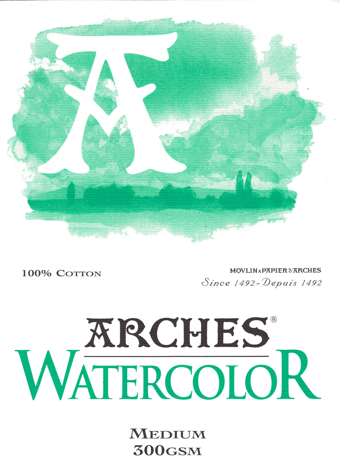 Arches Watercolour Pad A4 300gsm Medium