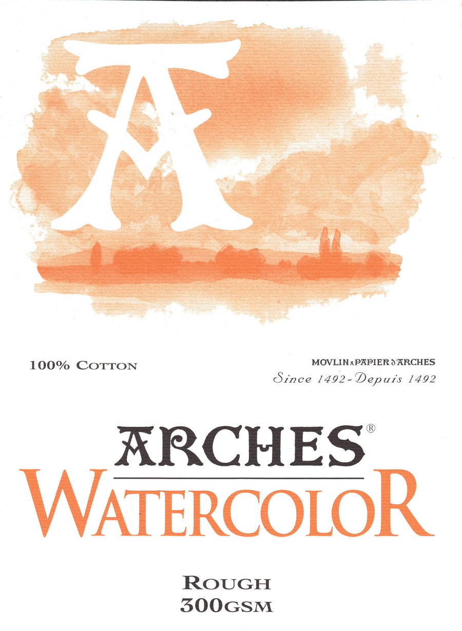 Arches Watercolour Pad A4 300gsm Rough