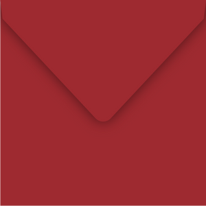 Crimson Red 130 x 130mm Envelope