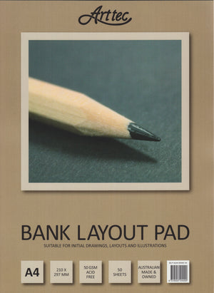 Arttec A4 Bank Layout Pad