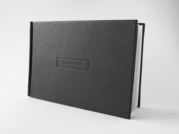 Black Leatherette Guestbook