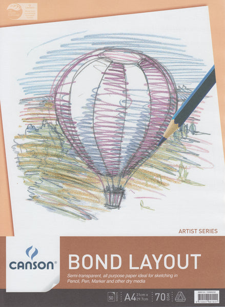 Canson A4 Bond Layout Pad