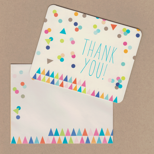 Thank You Cards Colourful Confetti