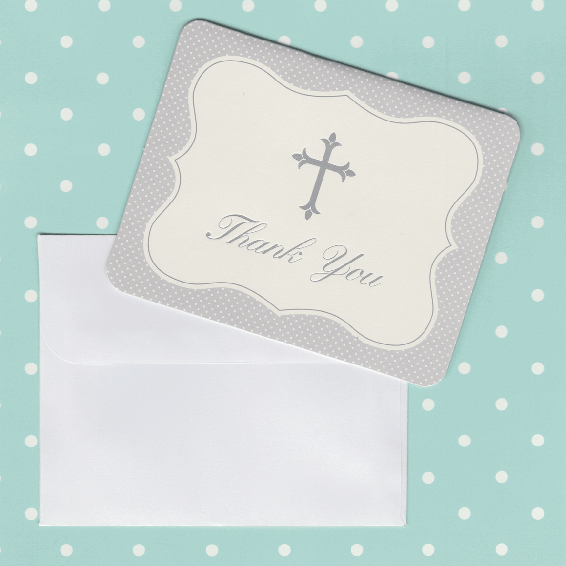 Thank You Cards with Silver Cross