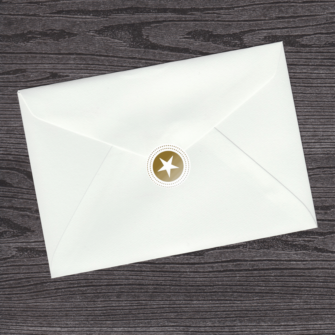 Gold Star Envelope Seal (pack of 30)