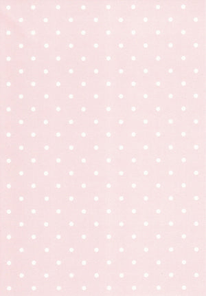 White polka on pink 120gsm paper