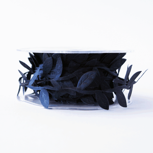 Leaf Garland Ribbon Black - 5mt length