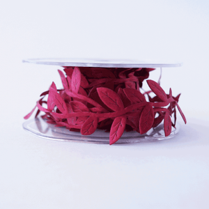 Leaf Garland Ribbon Burgundy - 5mt length