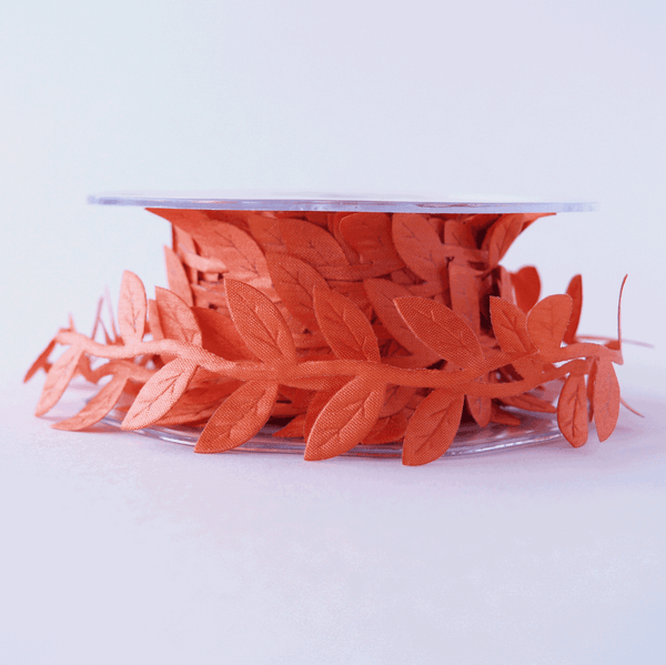 Leaf Garland Ribbon Burnt Orange - 5mt length