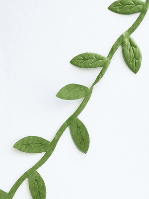 Detail of leaf garland ribbon