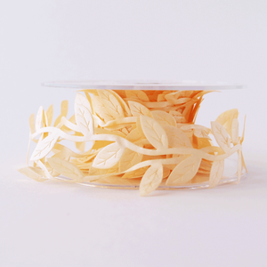 Leaf Garland Ribbon Pale Apricot - 5mt length