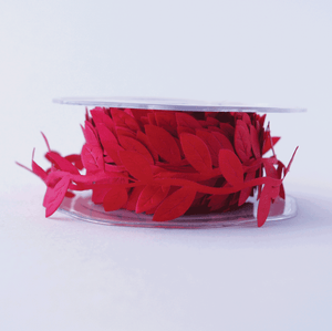 Leaf Garland Ribbon Red - 5mt lenght