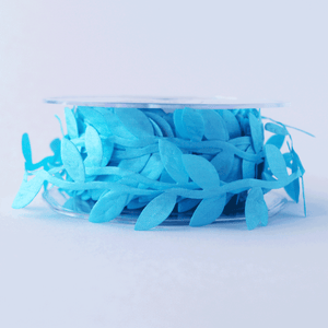 Leaf Garland Ribbon Sky Blue - 5mt length