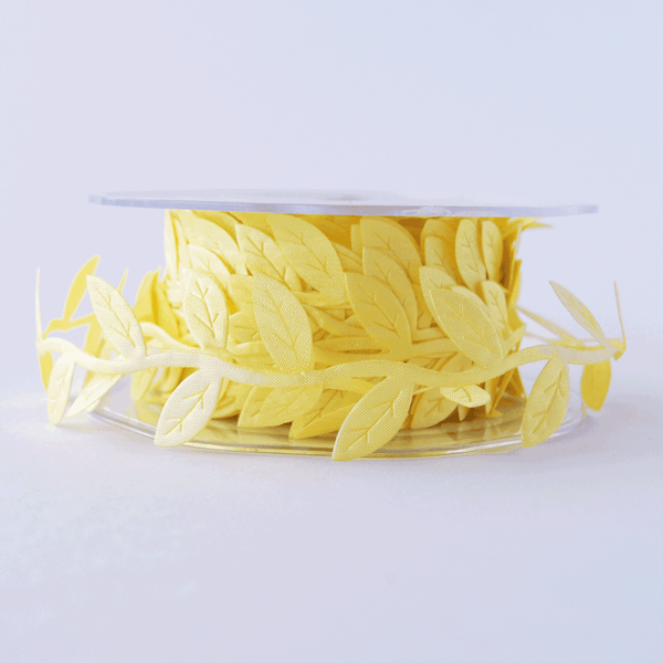 Leaf Garland Ribbon Yellow - 5mt length