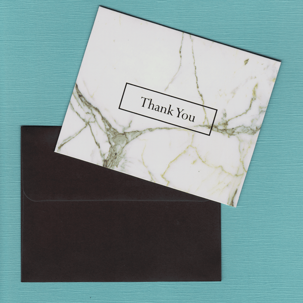 Thank You Cards Marble and Copper Foil
