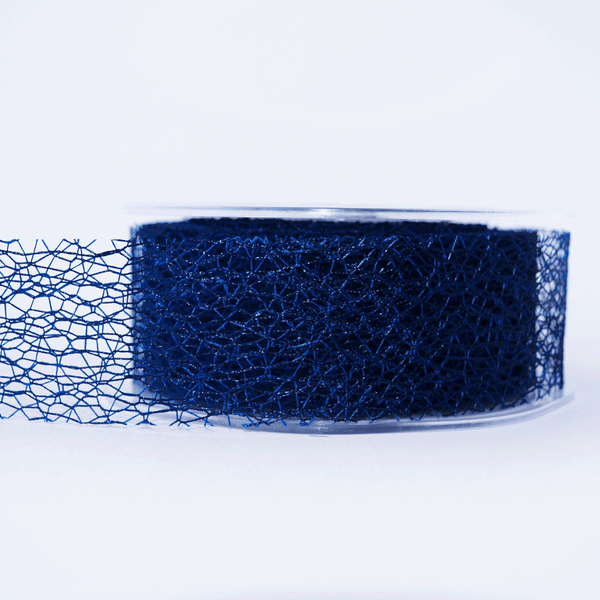 Mesh Ribbon Navy - 5mt Length