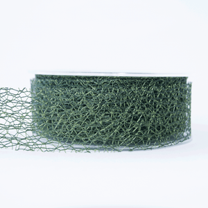 Mesh Ribbon Olive Green - 5mt Length