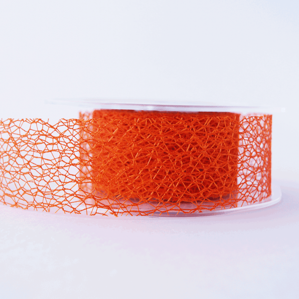 Mesh Ribbon Orange - 5mt Length