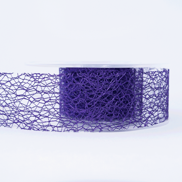 Mesh Ribbon Purple - 5mt Length