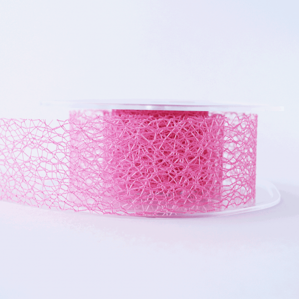 Mesh Ribbon Rose Pink - 5mt length