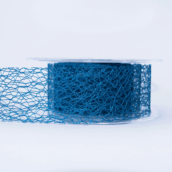 Mesh Ribbon Teal - 5mt length