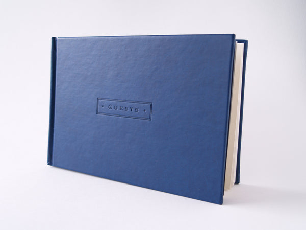Navy Leatherette Gustbook
