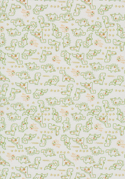 Baby dinosaur patterned paper