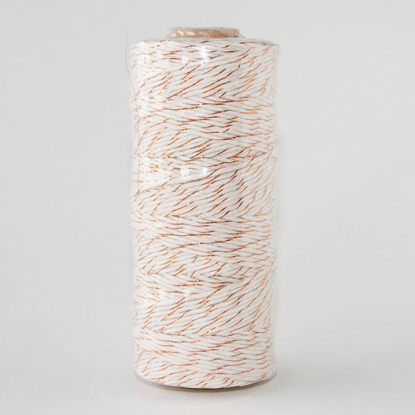 Bakers Twine Metallic Copper and White