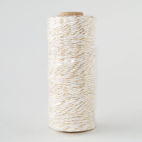 Bakers Twine Metallic Gold and White