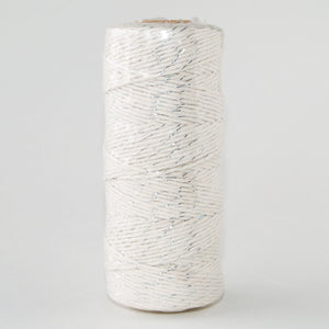 Bakers Twine Metallic Silver and White