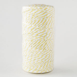 Bakers Twine Yellow and White