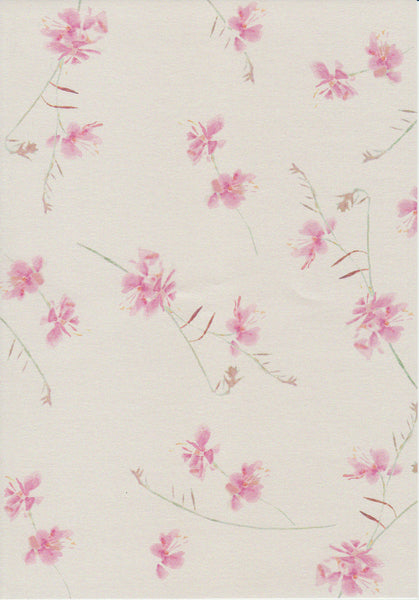 rose pink floral design set on quartz paper