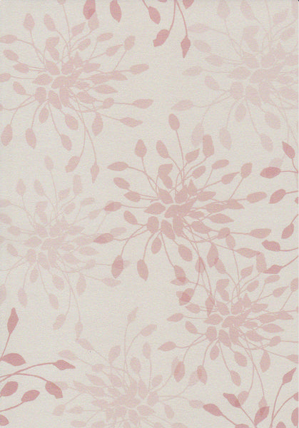 Nude pink floral pattern set on white paper