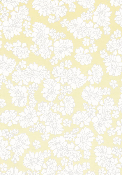 Ivory floral design set on yellow 120gsm paper