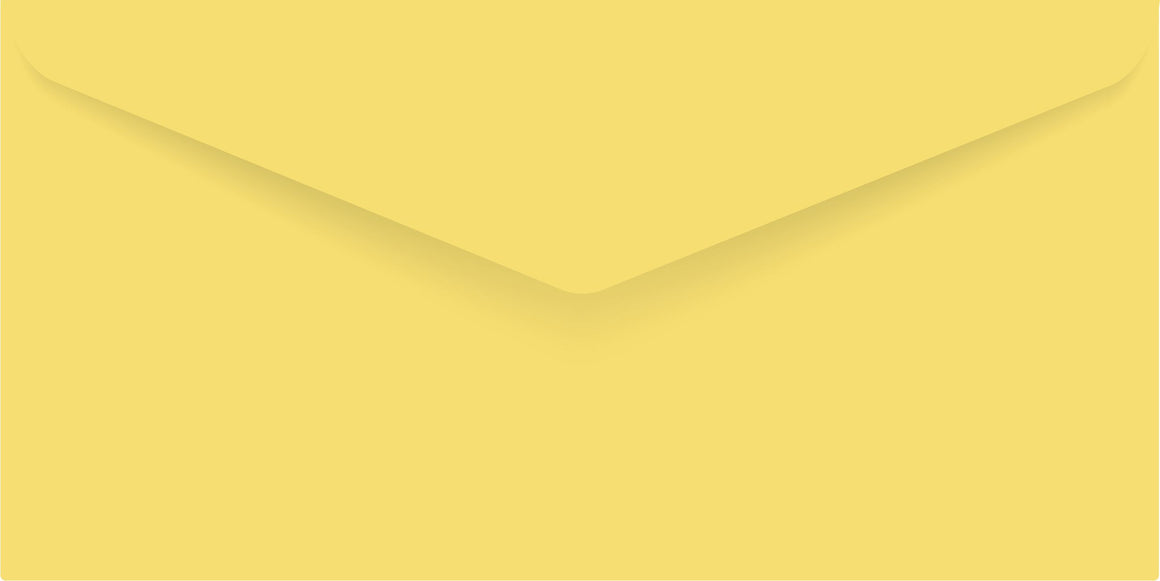 Yellow Matte DL Envelope