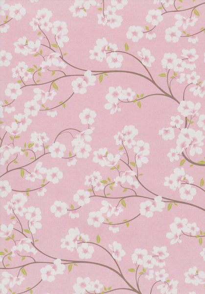 White cherry blossoms patterned paper
