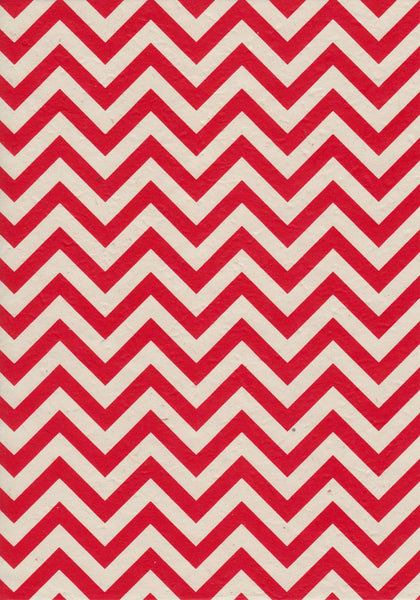 Red Chevron A4 Paper