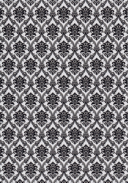 Black on Quartz Damask A4 Paper