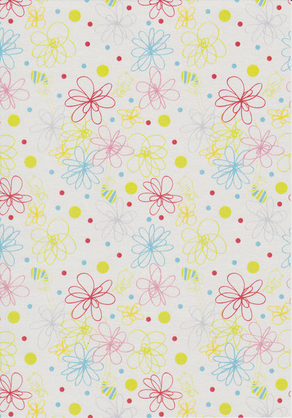 Abstract floral design set on white paper