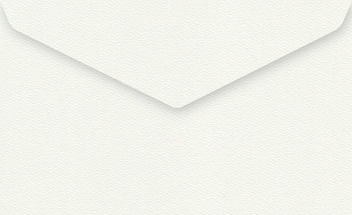 Via Felt  White 11B Envelope