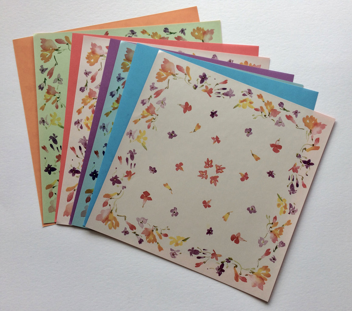 Origami pack - Japanese flowers