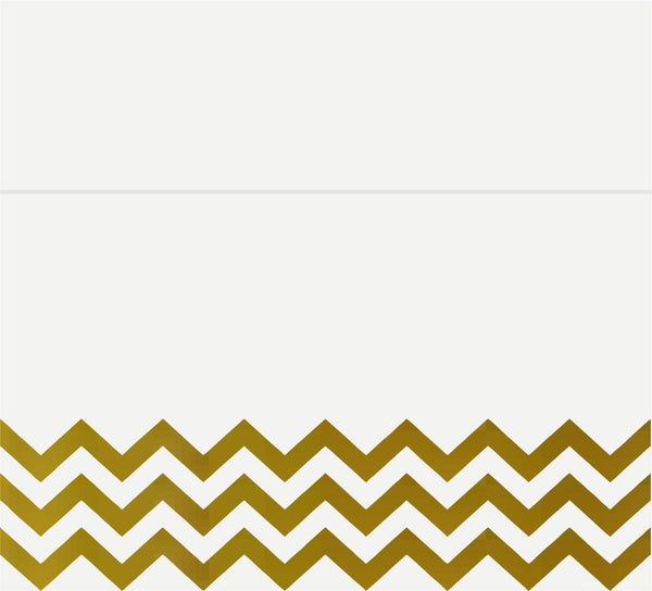 Chevron Gold Foil Place Cards