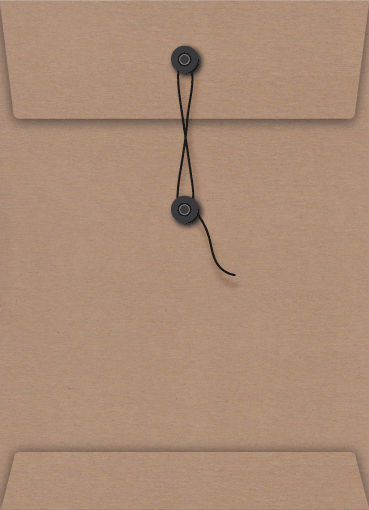 Kraft String and Black Button Seal C5 Envelope