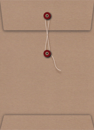 Kraft String and Red Button Seal C5 Envelope