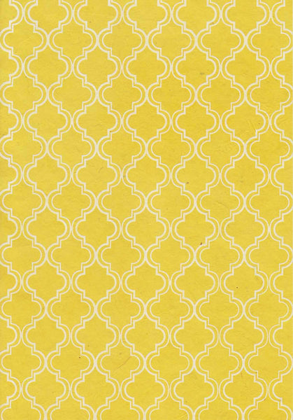 Morrocan White on Yellow A4 Paper