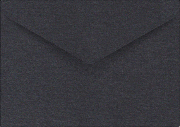 Metallic Black C6 Envelope