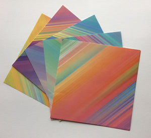 Origami pack - diagonal stripes - rainbow themed