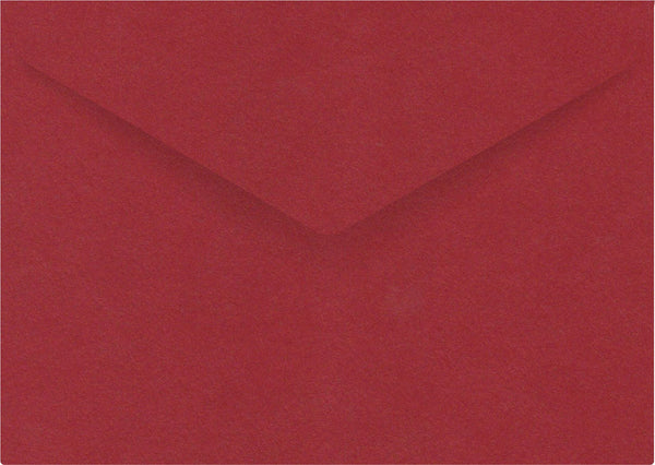 C6 metallic red banker flap envelope