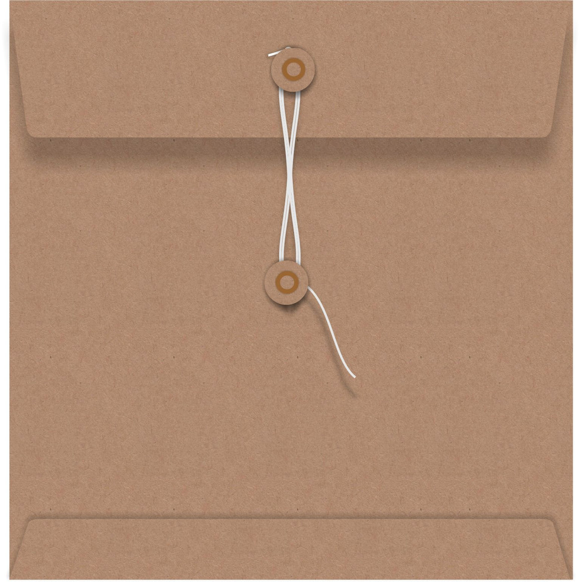 Kraft String Seal 150 x 150mm Envelope