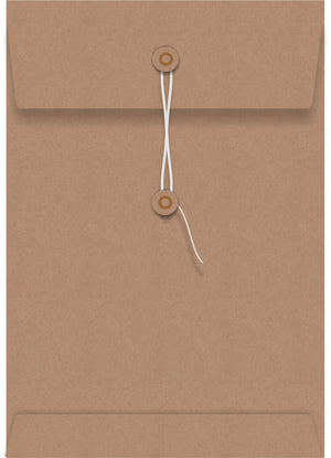 Kraft String Seal C6 Envelope